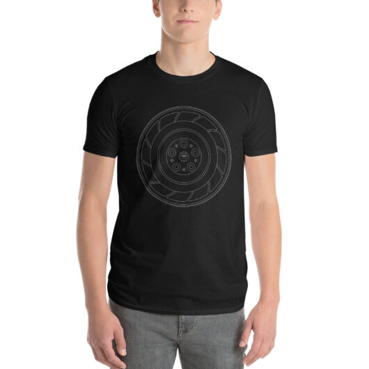 Holden HDT Aero wheel t-shirt in black with a silver print for sale online at Rotor And Piston